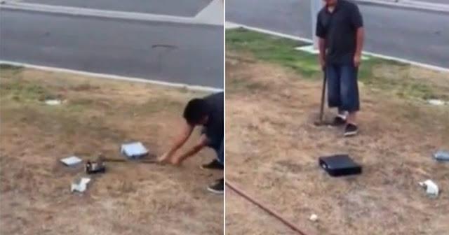 Pai obriga filho a destruir consolas de jogos após notas baixas na escola