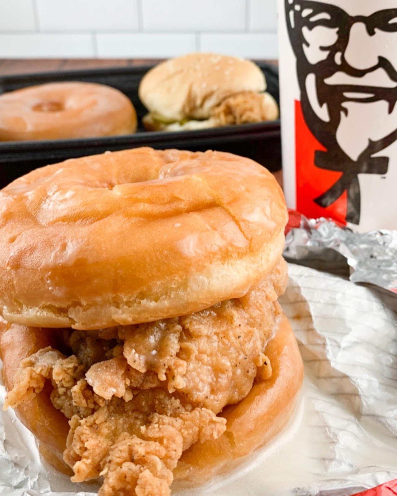KFC Chicken Donut Sandwich Review