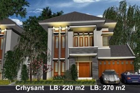 Desain Rumah Minimalis 2 Lantai Tampak Atas