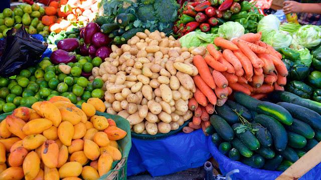 fruits vegetables Panajachel Guatemala market mercado