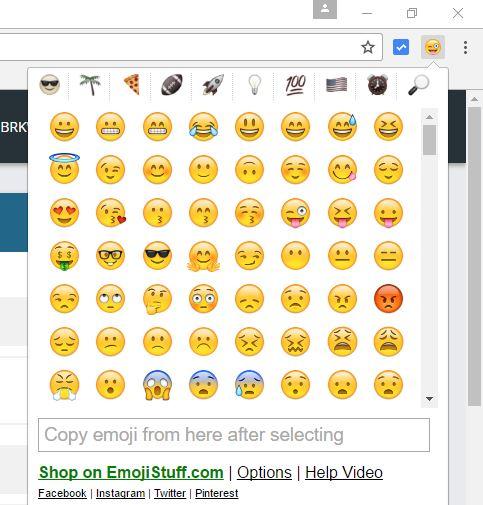 Google Chrome Eklentileri ile Emojileri Kullanma