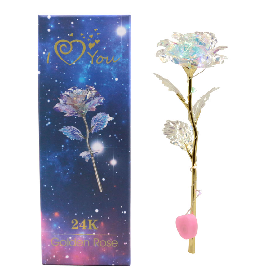 Best anniversary gift warm colored romantic galaxy rose