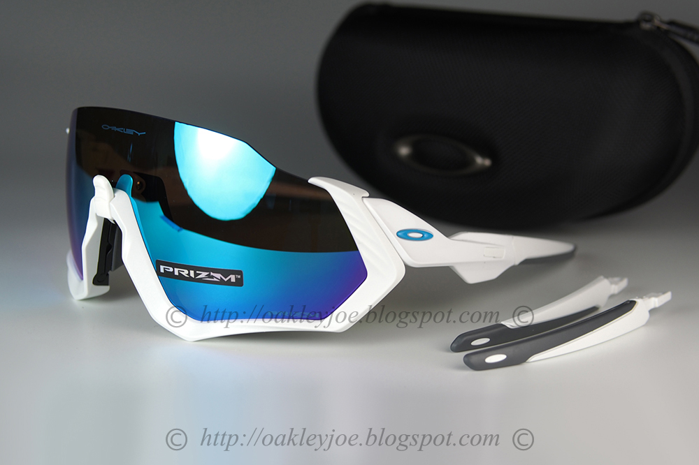 94b8645cac2 oo9401-0237 Flight Jacket polished white + prizm sapphire  295 lens pre  coated with Oakley hydrophobic nano solution complete set with vault