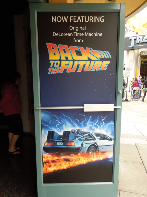 Back to Future DeLorean exhibit Universal Studios