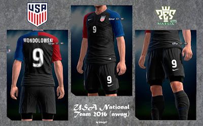 PES 2013 USA 2016 Home & Away Kits by kIkEJG17