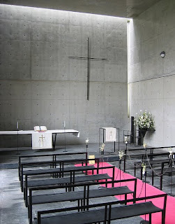 Capilla Monte Rokko. Tadao Ando. Interior