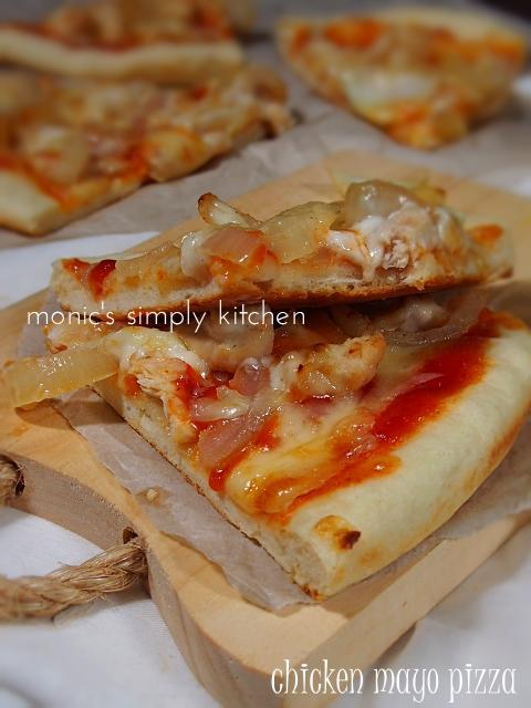 pizza ayam mayones