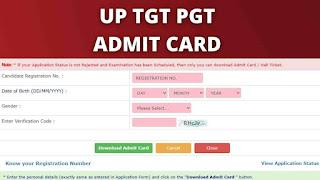 UP TGT Admit Card Download 2021