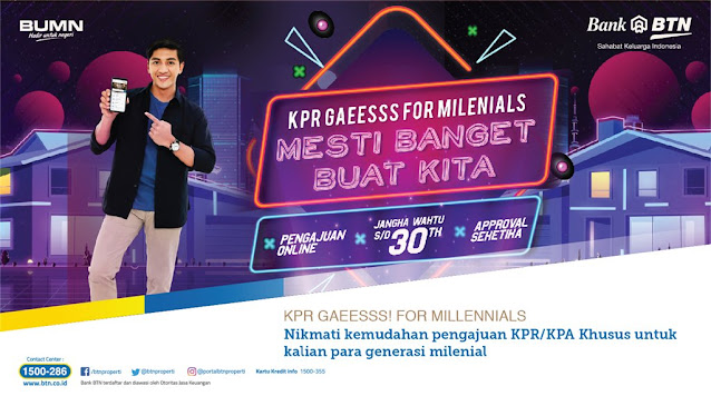 Cara Mudah Punya Rumah KPR Untuk Generasi Milenial di Bank BTN Properti