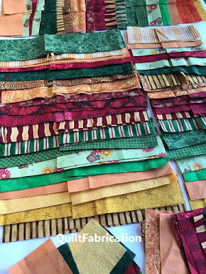 fabric strips for Zen Garden quilt