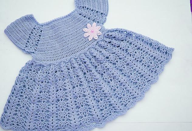 3 - Crochet Imagen Vestido con canesú morado a crochet muy fácil y sencillo por Majovel Crochet