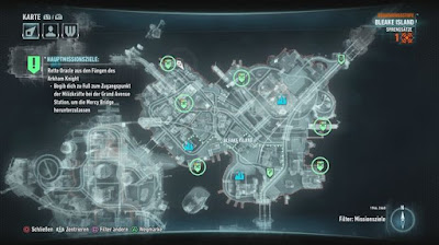 Batman Arkham Knight, The Line of Duty, Bleak Island, Firefighters Locations map