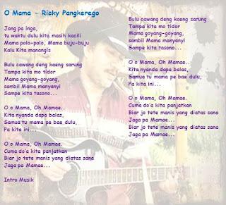"Lagu Manado ""O Mama"" oleh Ricky Pangkerego"