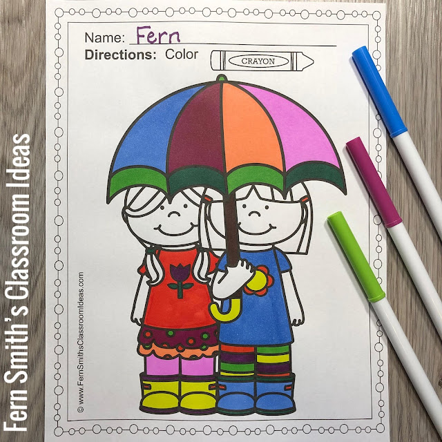Four Pack Bundle of Fun Spring Coloring Book Pages #FernSmithsClassroomIdeas