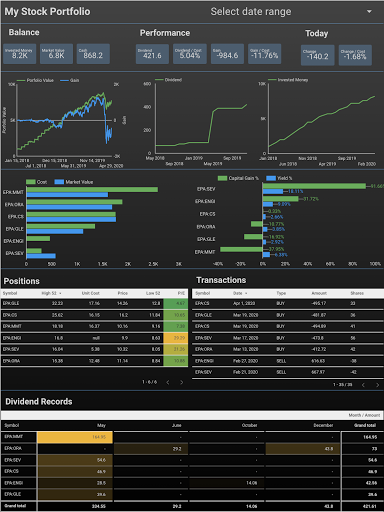 Free, easy, interactive, beautiful, real-time, no-installation-needed, and personal stock portfolio tracker