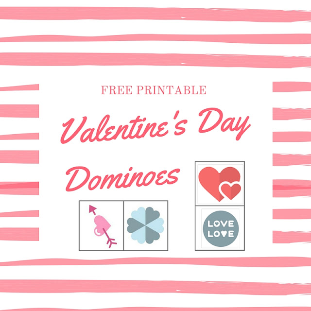 valentines day dominoes, free printable