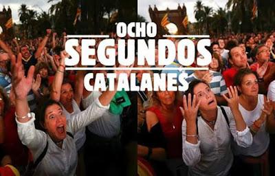 Ocho segundos catalanes, independencia, plaza Sant Jaume, Barcelona