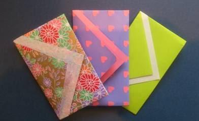 Langkah - langkah dalam  membuat origami amplop
