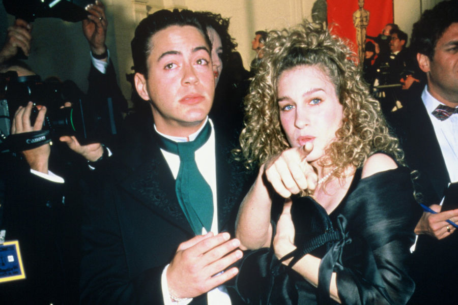 His wife downey jr and robert