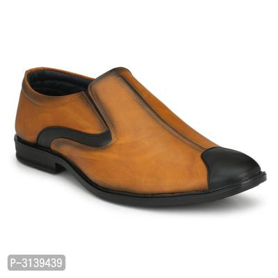Alluring Tan Synthetic Formal Shoes