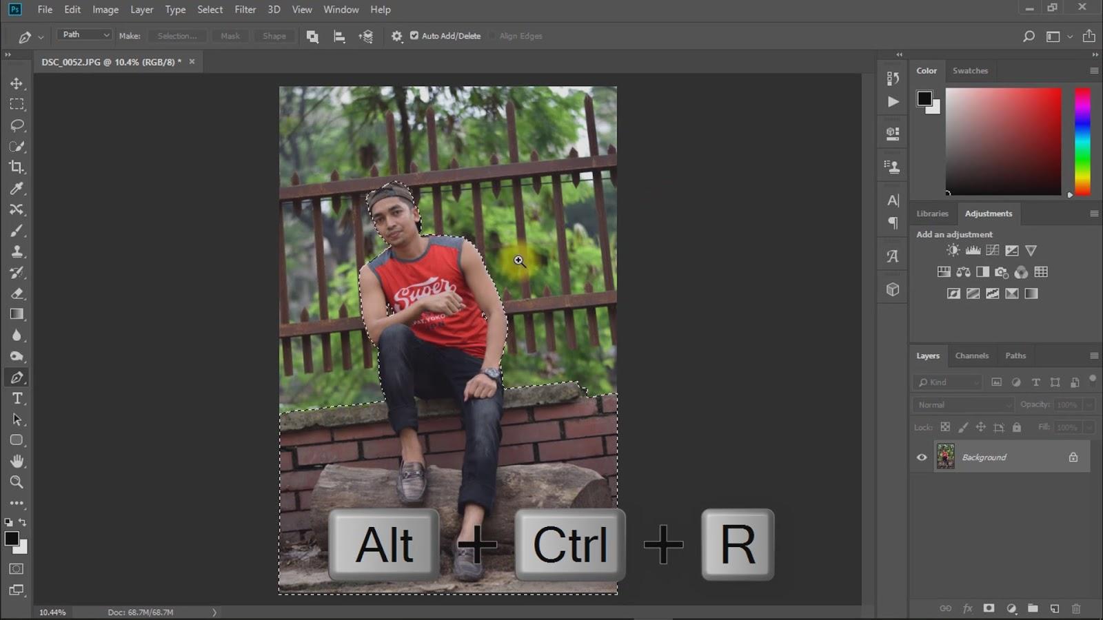 outdoor portrait photo manipulations working screenshot 1