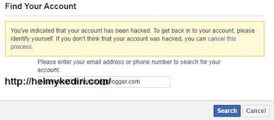 masukkan email terkait