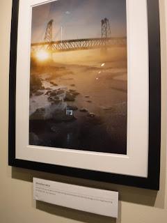 a photo of the Meridian bridge in Yankton as part of Sam Stukel's Winter on the Missouri photography exhibit
