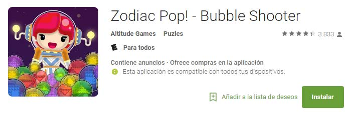 Zodiac Pop - Bubble Shooter