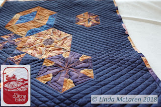 Modern Mini swap quilt straight line quilting