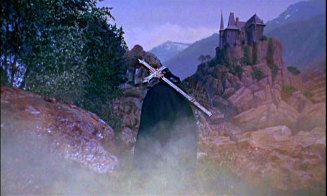 Dracula Has Risen from the Grave (1967) matte painting
