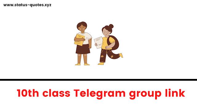 Class 10th Telegram Group Links