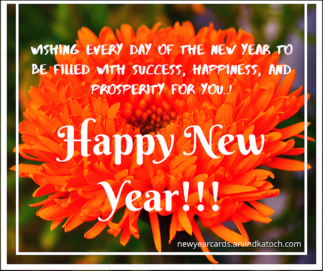 New Year, Success, happiness, prosperity, card,