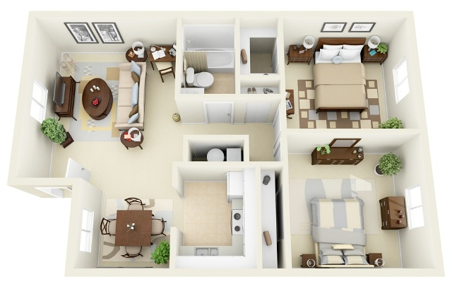 apartemen 2 kamar