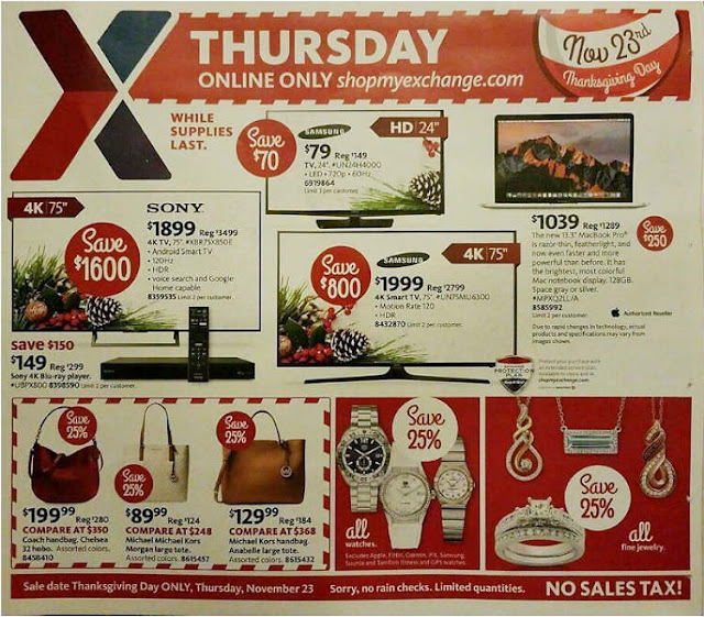 AAFES Black Friday 2017 Ad