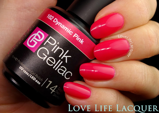 Pink Gellac VIP collection swatches Dynamic Pink