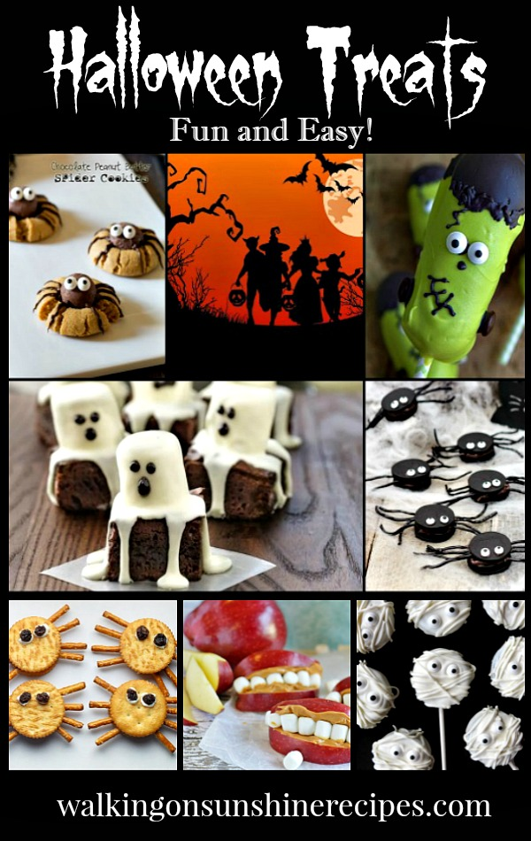 Halloween Treats that easy to make for your family this year featured on Walking on Sunshine Recipes.