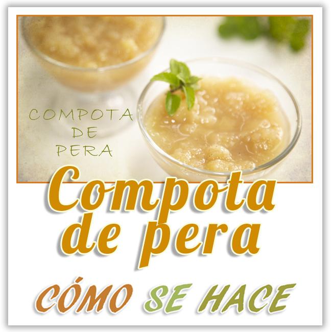 COMPOTA DE PERA
