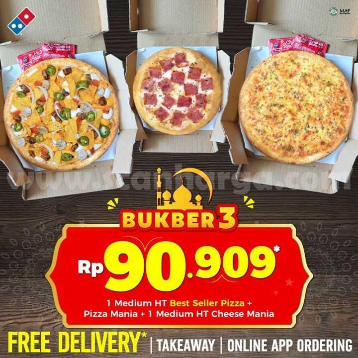 Promo DOMINO'S PIZZA Paket Bukber Ber-3 Hanya Rp 90.909