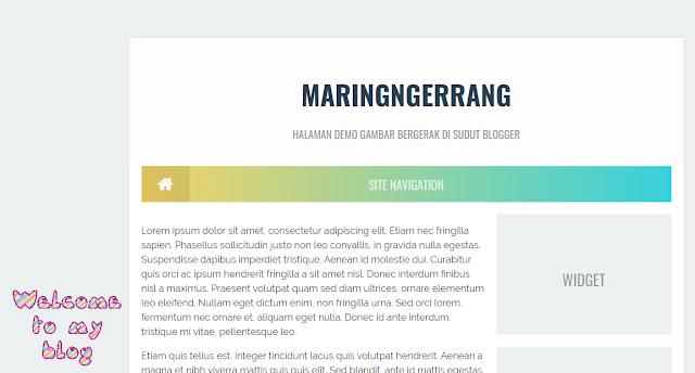 Cara Memasang Gambar Bergerak di Sudut Blogger
