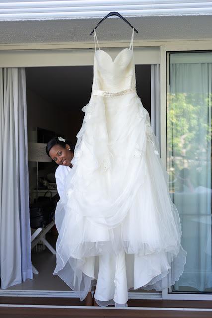 mariage Guadeloupe la créole beach le Gosier robe de mariée