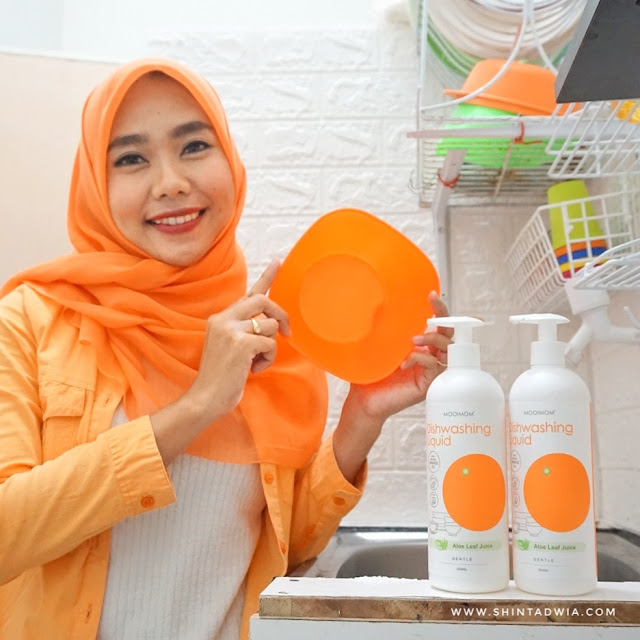 Review oh my orange antibacterial dishwasher liquid
