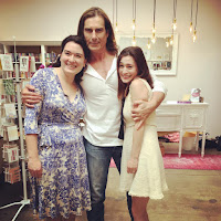 Bea and Leah Koch with cover model Fabio