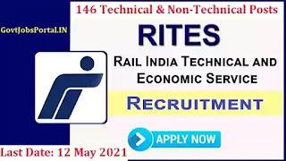 RITES Apprentice Jobs  / 146 Technical and Non-Technical Apprentice Recruitment 2021