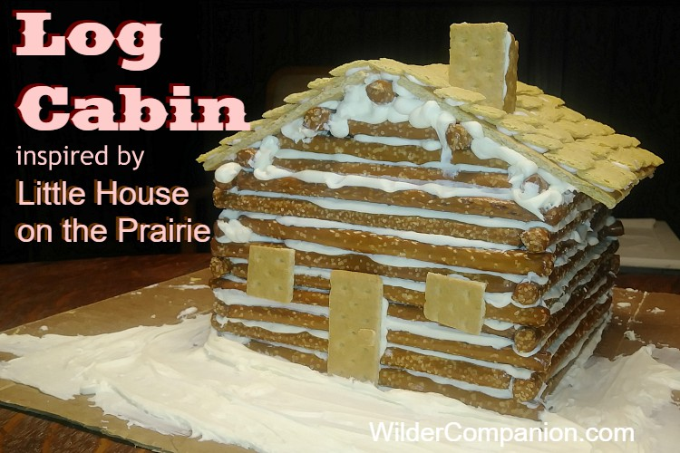 log cabin craft inspired by Little House on the Prairie