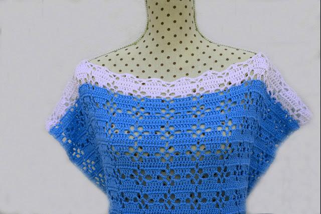 2 - Imagenes Crochet Blusa túnica playera a crochet facil sencilla paso a paso por Majovel Crochet