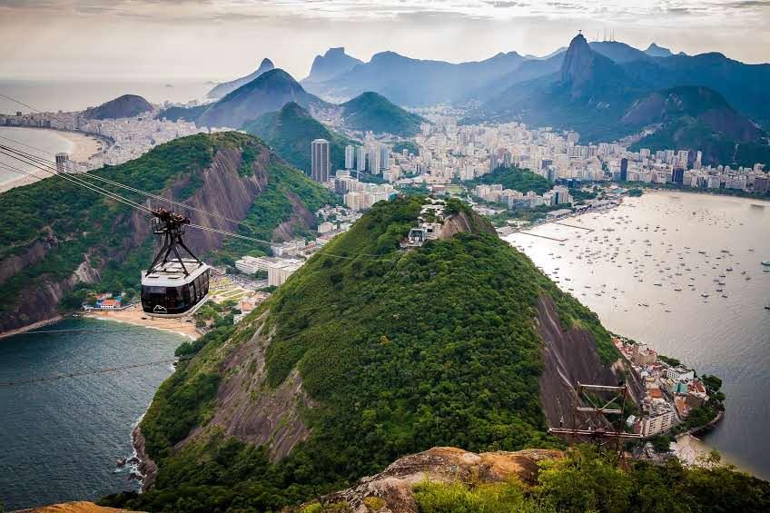 Vista do Pão de Açúcar no Rio de Janeiro