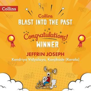 Jeffrin Joseph, IX D wins Collins Blast into the Past Contest