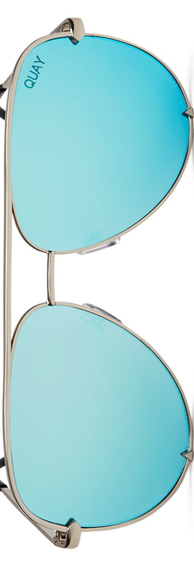 Quay x Desi Perkins High Key Mirrored Aviator Sunglasses, 56mm