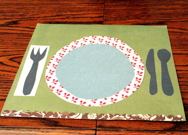 Table setting DIY for kids placemat easy craft
