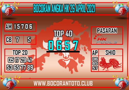 Bocoran Syair Hk 26 April 2021